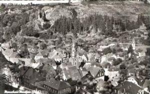 Monschau v.1956 .Teil-Stadt-Ansicht (16968)
