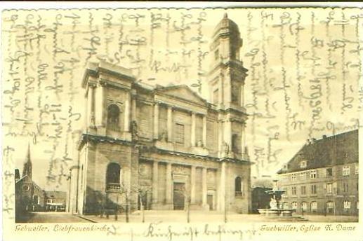 Gebweiler v.1915 Kirche N. Dame (20756)