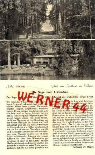 Uklei See v. 1943 Forsthaus & Die Sage  (7199)