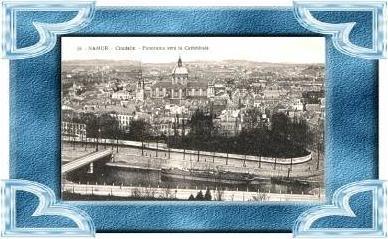 Namur v.1918 Teil-Stadt-Ansicht (9499)