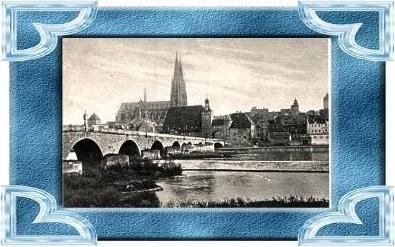 Regensburg v.1923 Brücke & Stadt (9525)