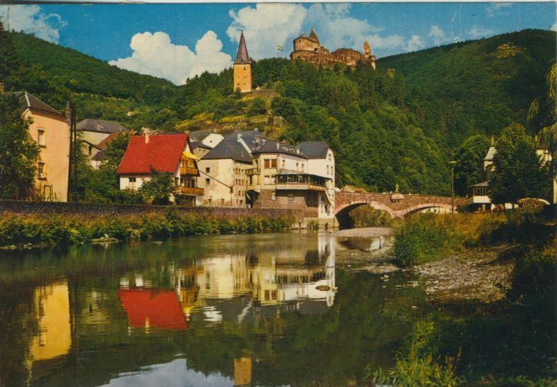 Vianden v. 1987  Teil-Stadt-Ansicht  (55095)