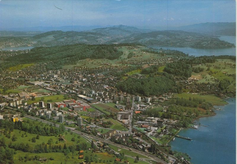 Horw v. 1976  Total-Stadt-Ansicht  (56029)