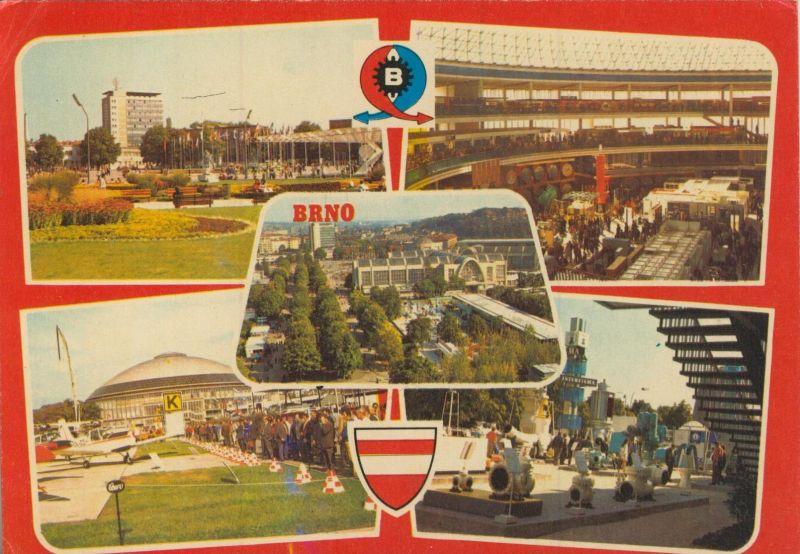 Brno v. 1976  5 Stadt-Ansichten  (56031)