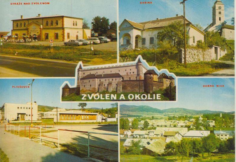 Zvolen a Okoliue v. 1976  5 Ansichten  (56035)