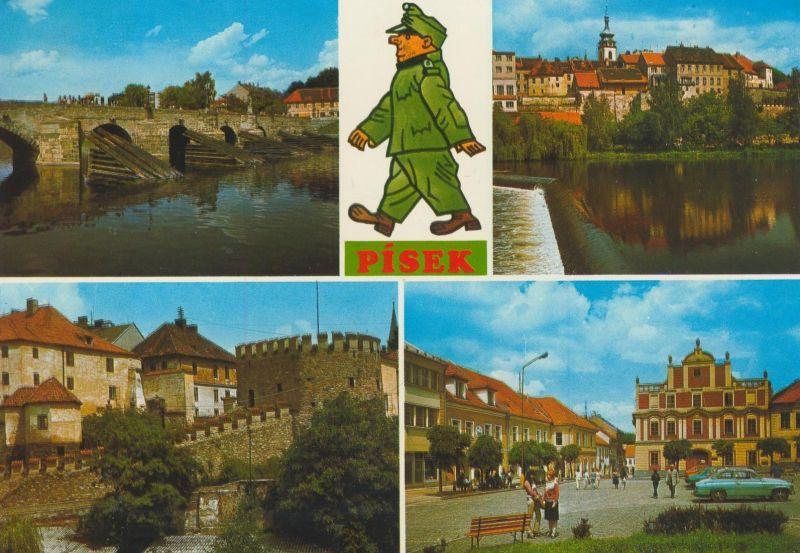 Pisek v. 1987  4 Stadt-Ansichten  (56053)