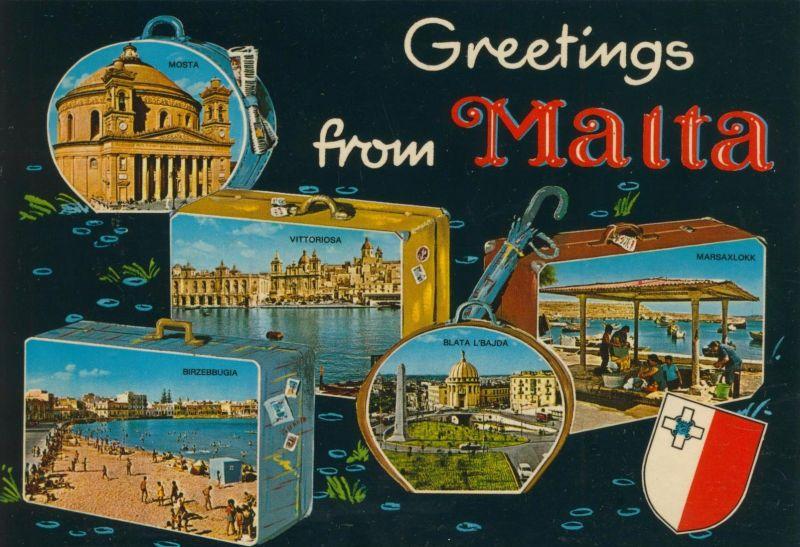 Malta v. 1976  5 verschiedene Stadt-Ansichten (56062)