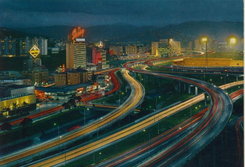 Caracas v. 1976  Cruce de las autopistas LLmando