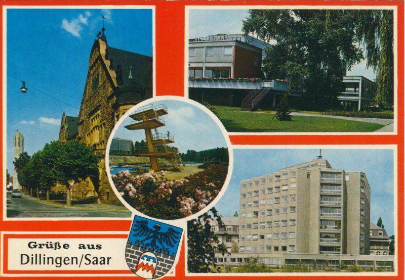 Dillingen / Saar v. 1968  4 Ansichten (56417)