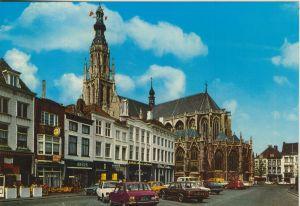 Breda v. 1980  Grote Markt mit Geschäfte  (56474)