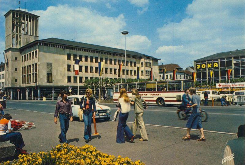 Saarlouis v. 1974  Innenstadt mit Joka (56385)