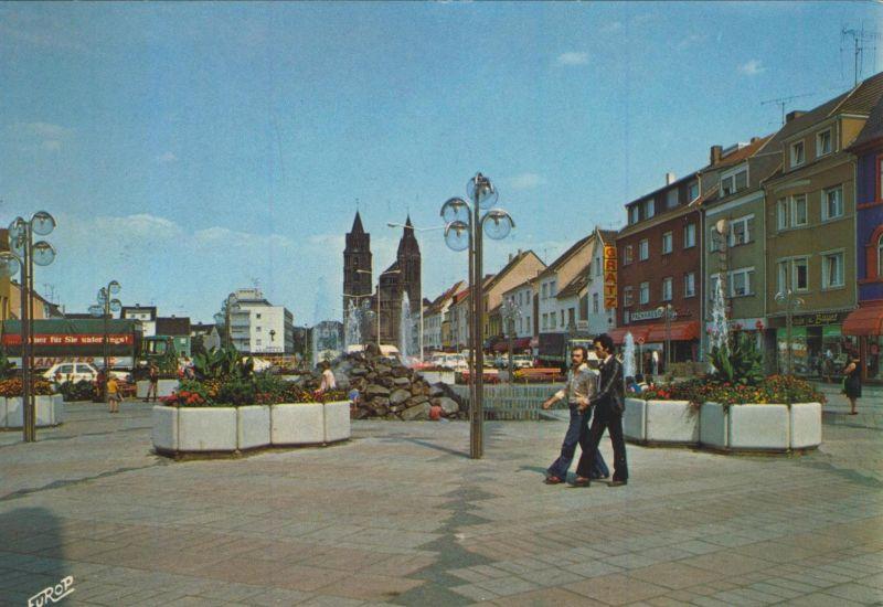 Dillingen / Saar v. 1974  Odilienplatz - Fußgängerzone (56154)