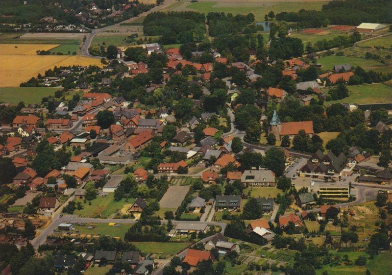 Salzhausen v. 1976  Luftaufnahme - Dorfansicht (56174)