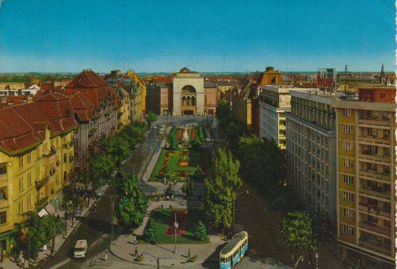 Timisoara v. 1967  Teil-Stadt-Ansicht  (55144)