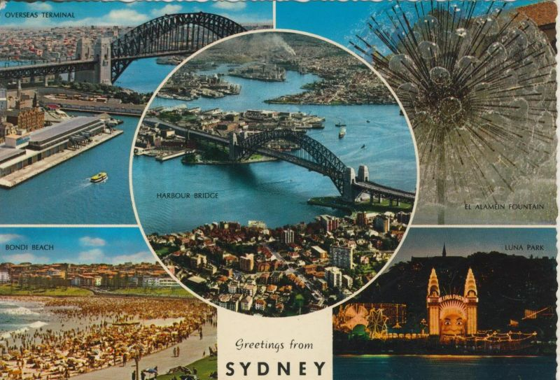 Sydney v. 1980  5 Stadt-Ansichten  (55146)