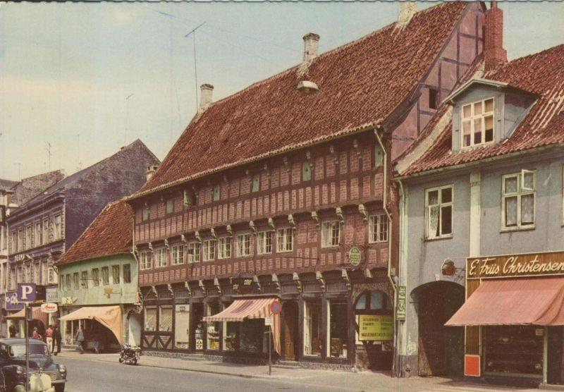 Randers v. 1968  Niels Ebbesems Hus und Strassensicht mit Geschäfte (55169)