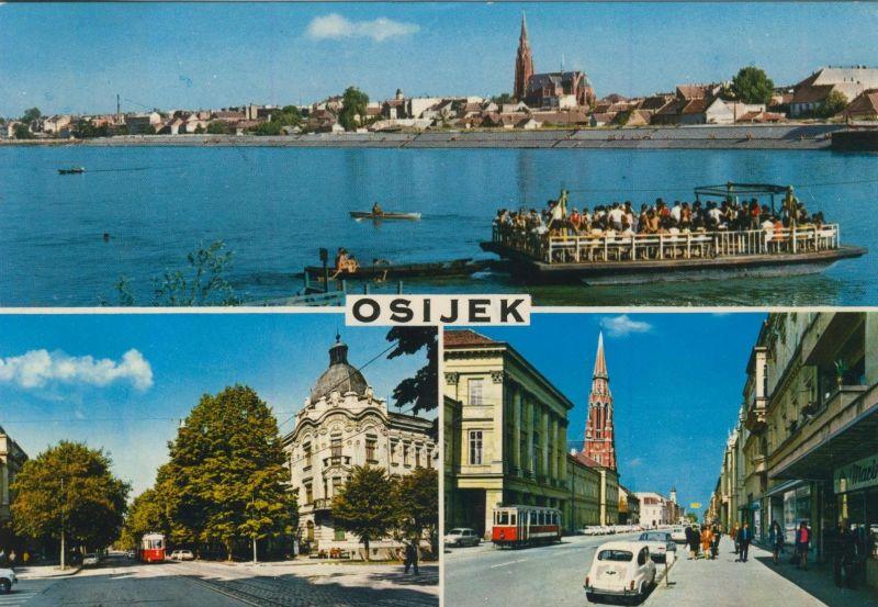 osijek v. 1973  3 Stadt-Ansichten  (55191)