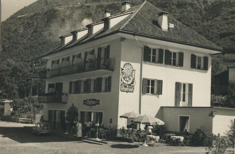 Burgstall bei Meran v. 1965  Gasthof & Fleischhauerei