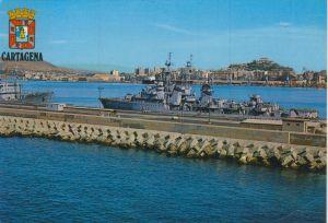 Murcia v. 1976  Hafen mit Kriegsschiffe (56654)