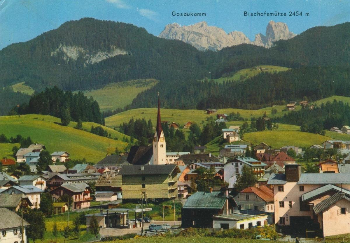 Abtenau v. 1974  Dorfansicht  (56828)