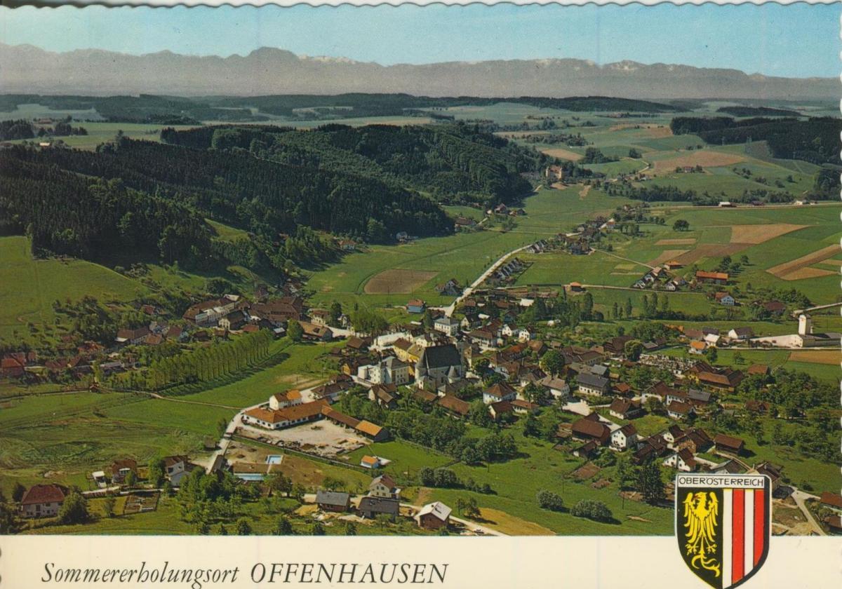 Offenhausen v. 1974  Lutfaufnahme - Dorfansicht  (56835)