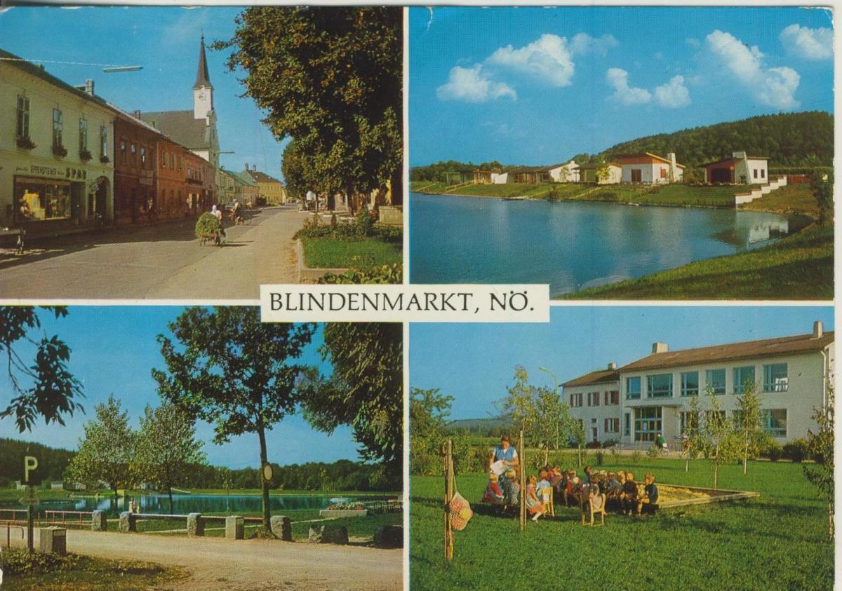 Blindenmarkt v. 1968  4 Ansichten u.a. Wochenendhäuser am Ausee  (56848)