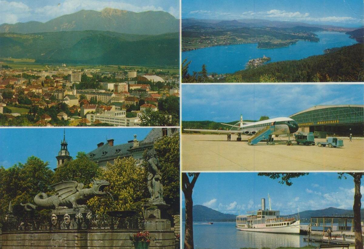 Klagenfurt v. 1972  5 Ansichten u.a. Der Flughafen  (56851)