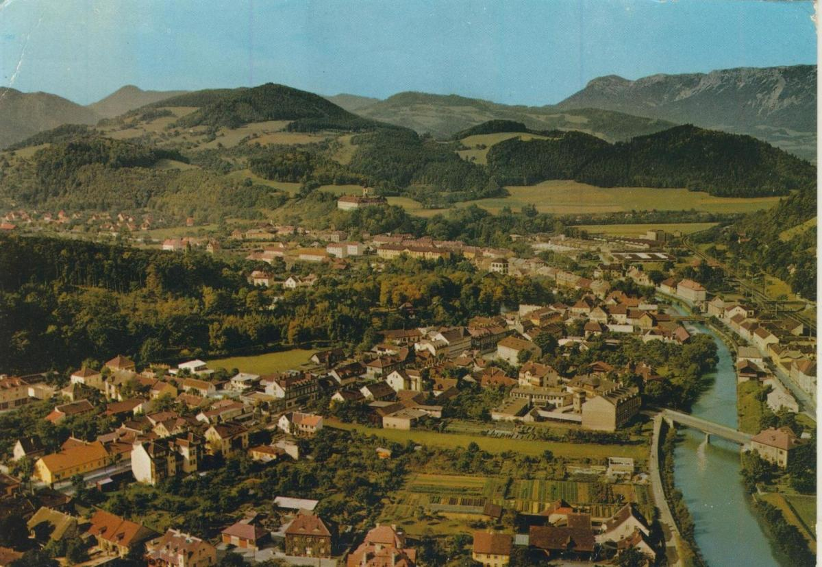 Gloggnitz v. 1969  Luftaufnahme - Dorfansicht  (56857)