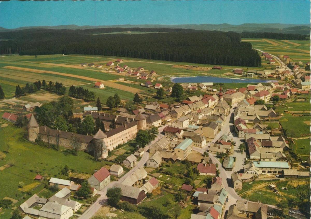 Ottenschlag v. 1972  Luftaufnahme - Dorfansicht  (56862)