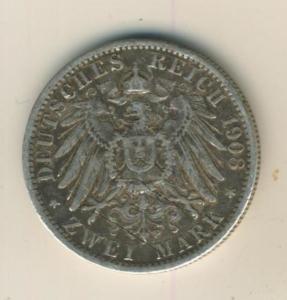 2 Mark 1908,A, Preussen,Deutsches Reich Kaiserreich,Silber (24)