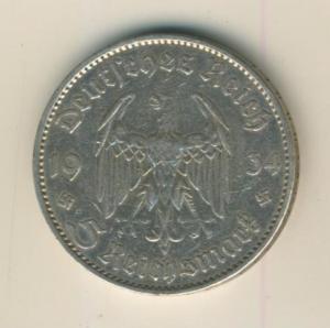 5 Reichsmark 1935,A, Garnisonskirche ,Silber 900/1000  (29)