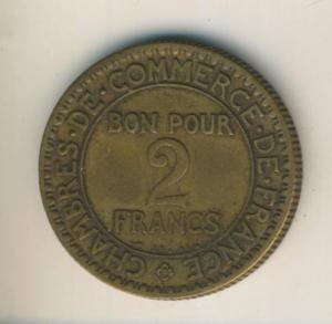 Frankreich, 1922, 2 Francs, Commerce Industrie  (54)