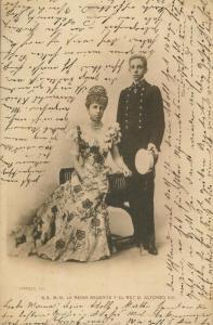 Barcelona v. 1902  S.S. M.M. La Reina Regente y el Rey D. Alfonso XIII.   (56964-1)
