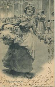 Barcelona v. 1902   Vendedora de Lilas  (57157)