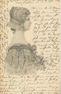 Barcelona v. 1902  Junge Frau  (57159)
