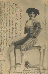 Barcelona v. 1903  Sehr schöne junge Frau  (57160)
