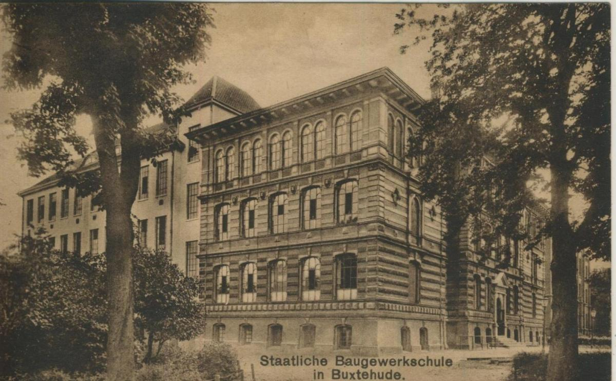 Buxtehude v. 1924  Staatliche Baugewerbeschule in Buxtehude  (57219) 0