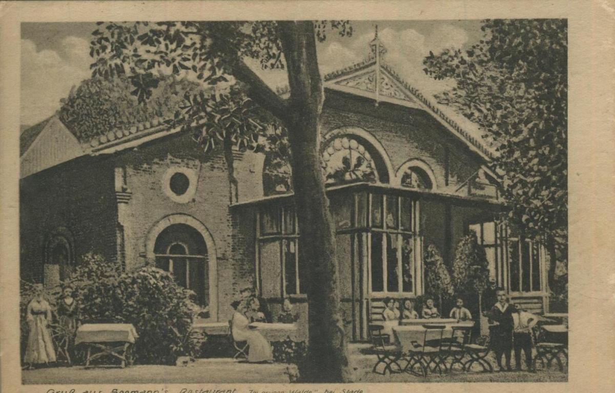 Bei Stade v. 1924  Gruss aus Seemann`s Restaurant