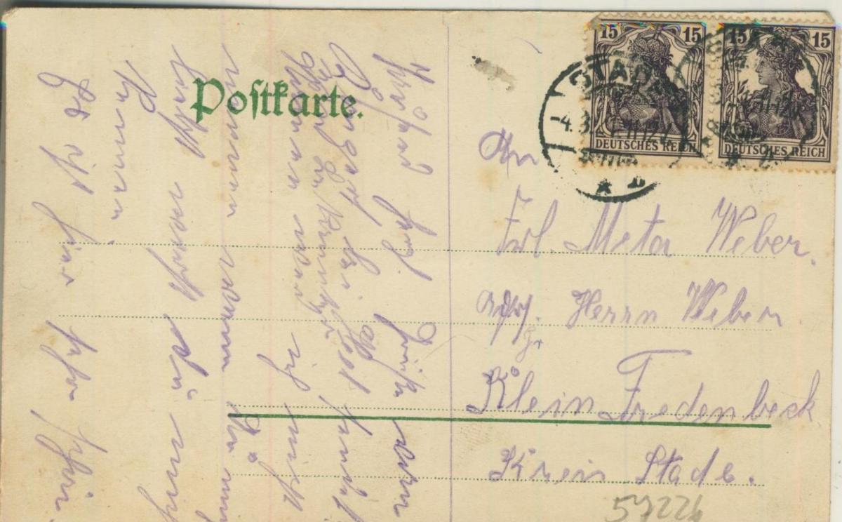 Gruss aus Stade v. 1922  Villa Louise  (57226) 1