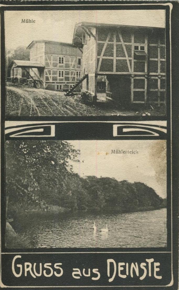Gruss aus Deinste v. 1923  Mühlenteich, Mühle  (57230) 0