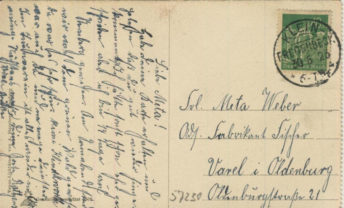 Gruss aus Deinste v. 1923  Mühlenteich, Mühle  (57230) 1