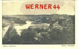 Wilna v. 1918  Antokol. & Stadt-Teil-Ansicht  (27547)