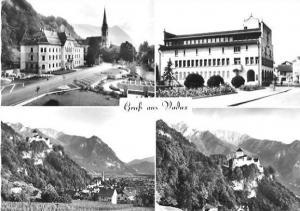 Vaduz von 1955 4 Ansichten (22608)