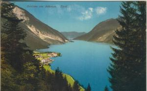 Pertisau am Achensee v. 1911  Teil-Dorf-Ansicht mit Achensee  (57369)