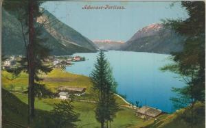 Pertisau am Achensee v. 1911  Dorf-Ansicht mit Achensee  (57370)