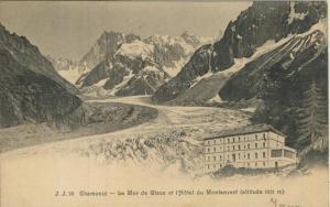 Chamonix v. 1905  La Mer de Glace et l`Hotel du Montanvert  (57409)