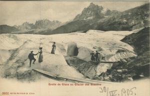 Chamonix v. 1905  Grotte de Glace au Glacier des Bossons  (57410)