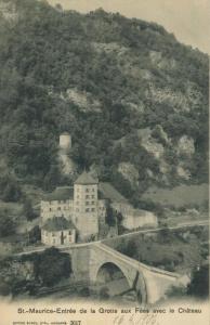 St. Maurice-Entree de la Grotte aux Fees avec le Chateau v. 1906  (57430)