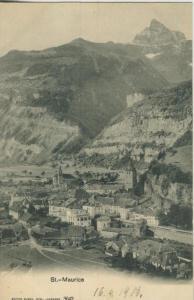 St. Maurice v. 1906  Dorf-Ansicht  (57431)