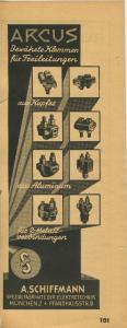 Zeitungs-Werbung -- München v.1955 A. Schiffmann,Pfandhaustr. 8 - Spezialfabrikate der Elektrotechnik  (51158)